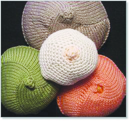 Knitted Knockers Pattern : Knitted Knockers a big hit - The Senior Scene