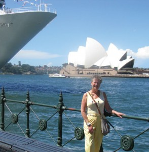 The Sydney Opera House (background) was among the sights for Linda Finch and her traveling companions. (Courtesy photo)