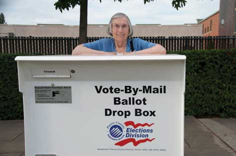 Dixie Gatchel, 89, never misses an opportunity to exercise her right to vote. (Joan Cronk/Senior Scene)