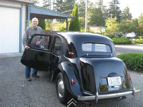 "John Chestnutt's ""beloved"" and long-lost Citroen Traction is back home with him after 42 years apart. (Courtesy photo)"