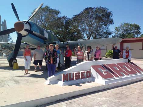 The Bay of Pigs Museum was among the tour group's stopping places in Cuba.