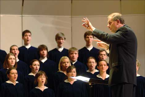 Conductor Ron Clausen and the Concordia Choir will perform Feb. 26 at Pacific Lutheran University. (Courtesy photo)