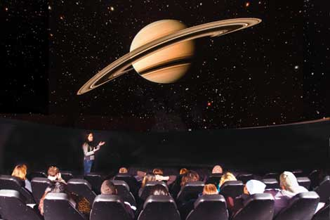 "Hillary Stephens, an associate professor of physics and astronomy, is among presenters at Science Dome shows. ""We can simulate the night sky or the view out of a space ship,"" she said. (Pierce College/courtesy photo)"
