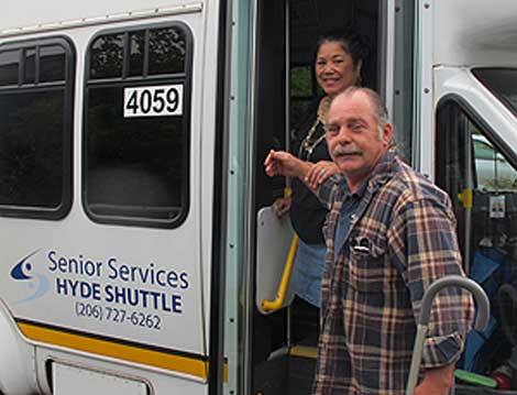 Trips to stores, banks and activities are available on the Hyde Shuttle.