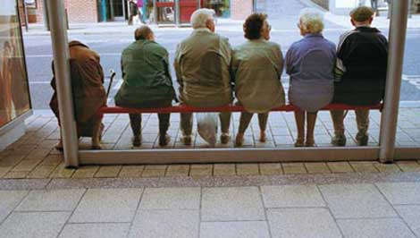 Bus stops are a familiar part of getting around for seniors and other community members. (AARP courtesy photo)