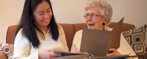Caregivers from Family Resource Homce Care help meet the needs of seniors living in their own homes by spending two to 24 hours a day with them.