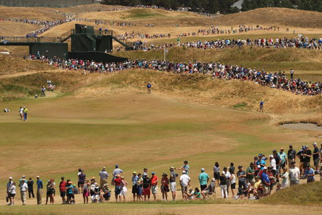 Thousands of fans lined the holes each day of the U.S. Open at Chambers Bay Golf Course. (The Dispatch)