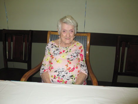 """""""Just living"""" was 100-year-old Jean Ehrlich's reply when asked for her """"secret"""" to a long life."""