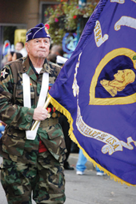 Veterans of all ages participate and are honored during Auburn's annual Veterans Day Parade.