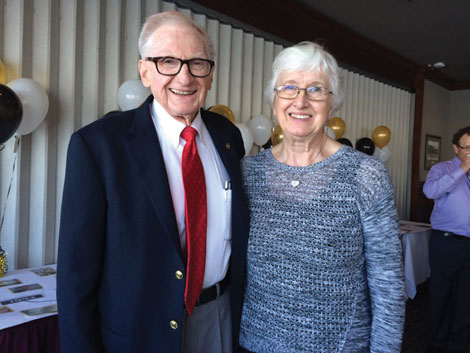 Cascade Park Communities founder Don Hansen was joined by his wife, Jean, at the company's 20th anniversary celebration.