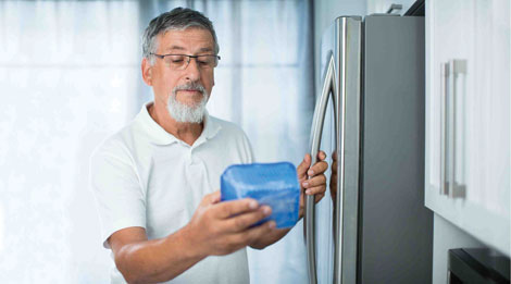 Food refrigerated at the right temperature helps consumers prevent foodborne illnesses.