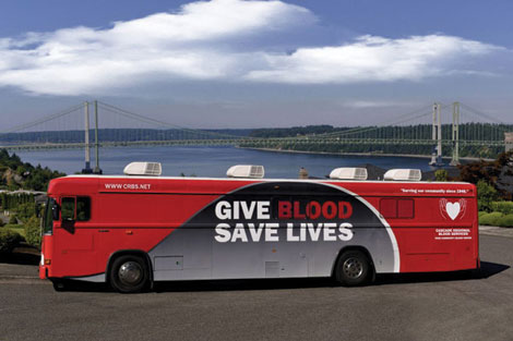 The bloodmobiles for Cascade Regional Blood Services have a new look.