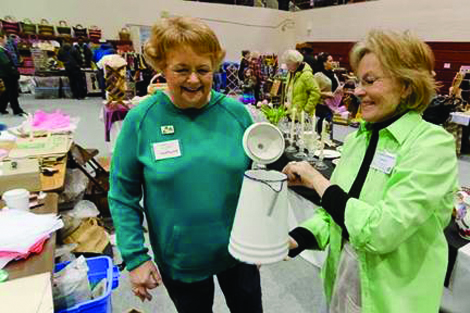 Antiques, collectibles and home items are among the treasures that have been offered at the fund-raising Women's League Flea Market in past years and again this year at the University of Puget Sound Fieldhouse. (Ross Mulhausen/courtesy photo)