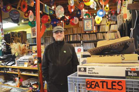 Pete VanRosendael, who believes retirees need to be productive and have fun, says owning Turntable Treasures has been his passion since leaving the Air Force. (Joan Cronk/for Senior Scene)