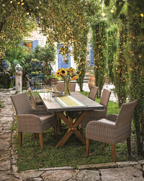 """A garden """"room"""" is an outdoor entertainment area to share with family and friends. (Gardeners Supply/courtesy photo)"""