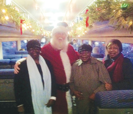 Odell Jones, Daisy Eigner and Fay Curry shared a ride on the Polar Express with you-know-who.